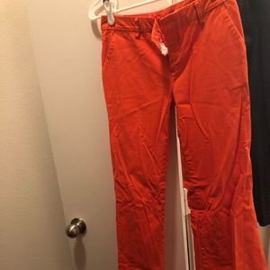GAP Orange Wide Leg Khakis